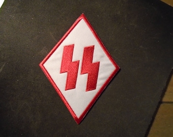 Red and white SS Diamond Patch