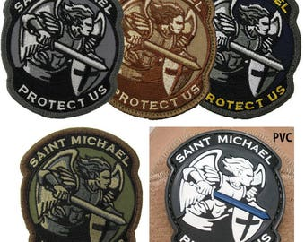 St Michael Modern Embroidery Patch/Military Patch/Tactical Patch/embroidered patch/Patch for Uniforms/
