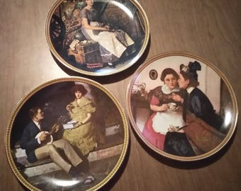 """Norman Rockwell """"Rediscovered Women"""" Series Plates (3)"""