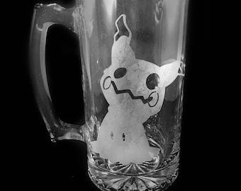 Mimikyu etched mug