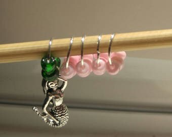 Mermaid Stitch Markers (Set of 5)