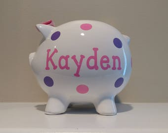Personalized Piggy Bank.Custom Piggy Bank.Baby Shower Gift.Piggy Bank.Girl Piggy Bank.Boy Piggy Bank.Girl Bank.Boy Bank.Newborn Gift.Nursery