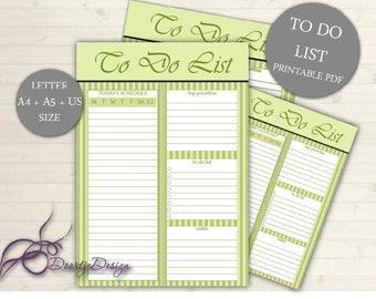 SALE Printable Planner, To Do List - Printable To do List, Printable Planner Page to do, Weekly to do, Daily to do, Printable to do list
