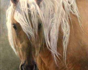 Horse Painting, Western Art, Horse Oil Painting, Horse Art, Corona of Sand Wash Basin
