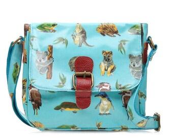 slim handbag oilcloth bag buckle satchel ladies shoulder bag oil