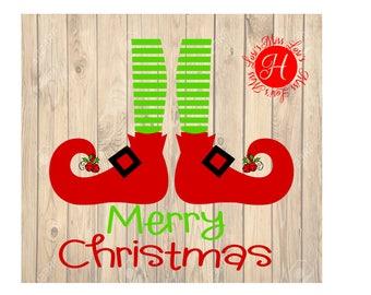 Elf Legs Merry Christmas SVG Cu DFX t shirt  file  Christmas Cricut explore file scrapbook vinyl decal wood sign cricut cameo Commercial use