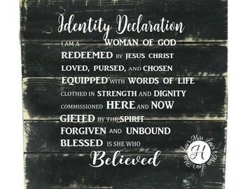 Identity decoration I am a woman of God Redeemed   Christian SVG , Scripture, Christian svg, Jesus svg,  sign cricut  Commercial license