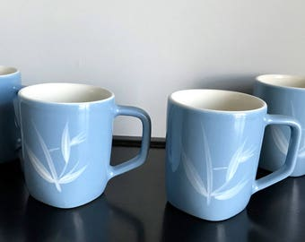 Set of 4 Winfield Blue Pacific Mugs - Hard to Find!!