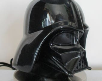 Ready to Ship Darth Vader Lamp & Shade. This Lamp will de'light' any Star Wars Fan or collector. Silver base w black base, stick and shade!