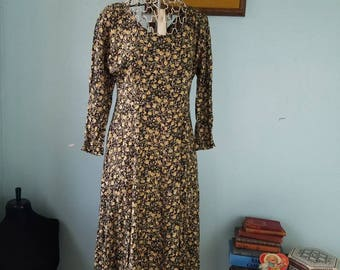 90s long black and floral dress; long sleeve floral dress; 90s; Stevie nicks; witchy; the craft