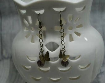 "Earrings ""Butterfly on Pearl"""