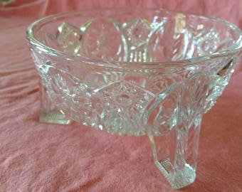 Nucut Pressed Glass Fruit Bowl