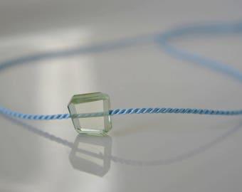 Aquamarine silk chain minimalist natural beauty