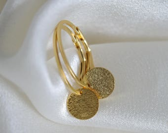 Creole ovals with gold plates and are the perfect companion silver gilded Creole ovals with gold plates silver PLATED