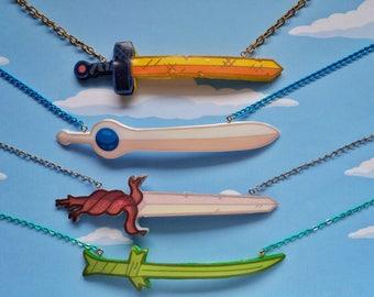 Adventure Time sword necklace