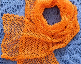 "Openwork scarf ""Orange mood"""