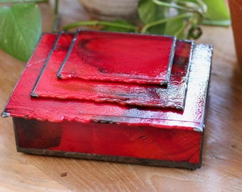 Red Glass Box - Very Red!