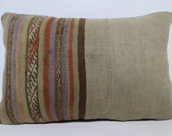 Lumbar Pillow Throw Pillow Cushion Cover Striped Kilim Pillow 16x24  Home Decor 16x24 Bedroom Pillow  SP4060-949