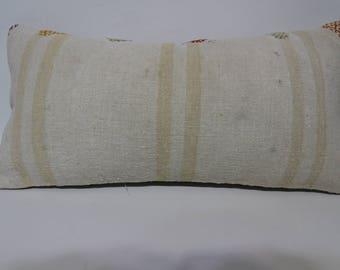 Decorative Kilim Pillow Turkis Kilim Pillow12x24 Lumbar Kilim Pillow Kilim Pillow Handwoven Kilim Pillow Cushion Cover  SP3060-1523