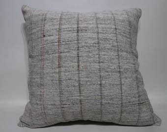 20x20 Striped Kilim Pillow Cover 20x20 Anatolia Vintage Turkish Kilim Pillow Cover decorative kilim pillow cover throw pillow SP5050-2231