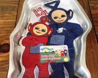 Retro 90s Teletubbie NOS Wilton Baking Mold Kids Cake Mold Dessert Teletubbies Big Hug Party Boys Girls Baby Shower New Old Stock tv show