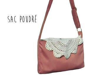 Women Bohemian Rose with Vintage Crochet shoulder bag
