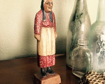 Vintage Old Lady Figurine