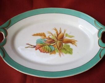 Antique English Porcelain Handled Serving Platter Plate-1930's