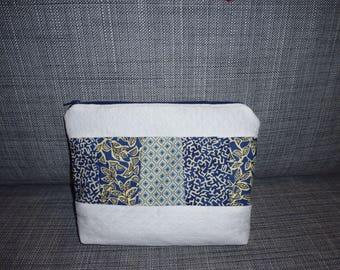 pouch for makeup, hygiene colors Blue beige