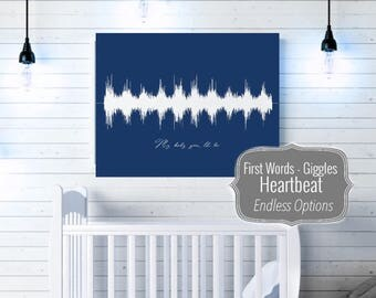 Baby Heart Beat, Baby Heartbeat Print, Heart Beat, Heartbeat Art, Lullaby, Special Song, Mommy and Me, Custom, Baby Heartbeat Canvas, First