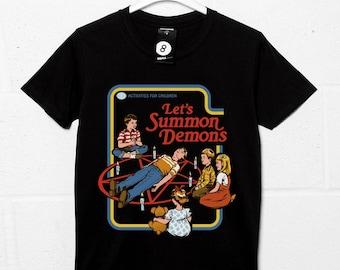Lets Summon Demons - Retro 80s Kids book Cover - Steven Rhodes
