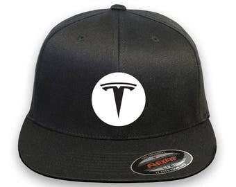 TESLA Model 3 Model S Flex Fit Hat  Cap Baseball Embrodery Design