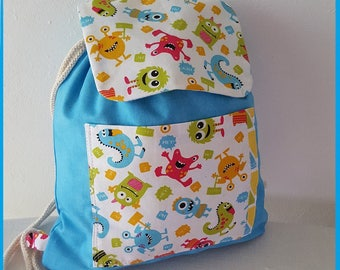 Happy monster kids backpack