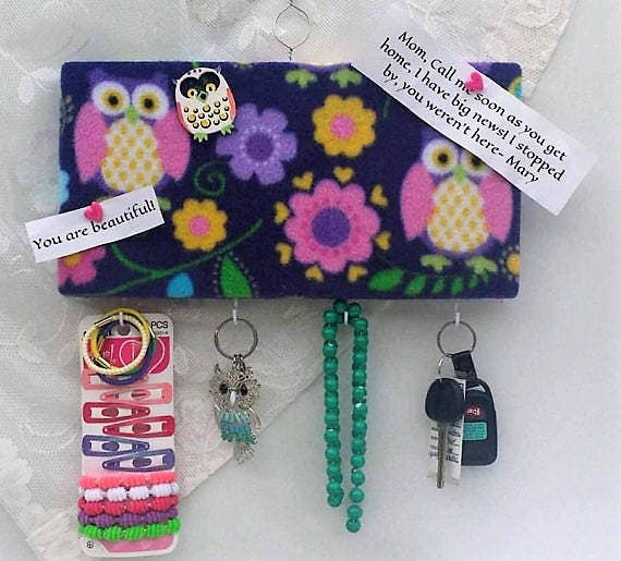 Small Key Wall Decor : Owl wall decor key holdersmall giftskitchen