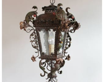 A7364 French Iron Lantern