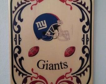 New York Giants Football Wall Plaque- Giants Home decor