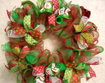 SALE Merry Christmas Wreath, Red and Green Christmas, Christmas Wreath, Christmas Wreaths, Winter wreath, xmas wreath, xmas wreath