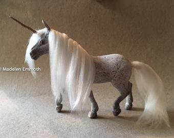 OOAK Handmade Polymer Clay Unicorn Horse