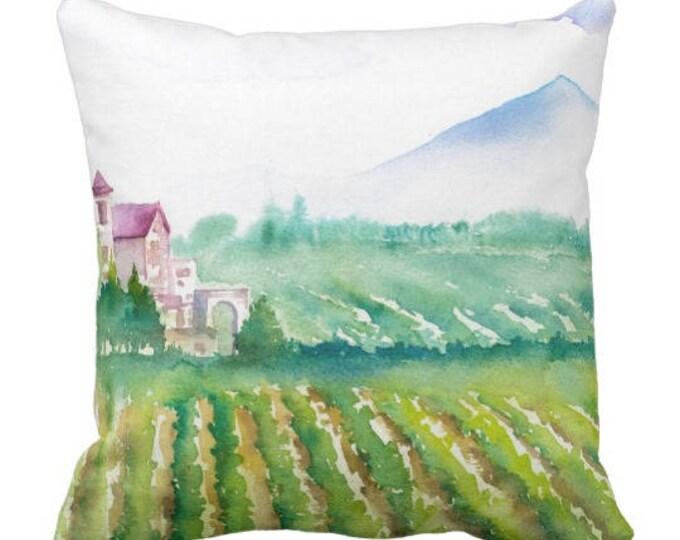 Mix & Match Vineyard Pillows Watercolor Vineyard