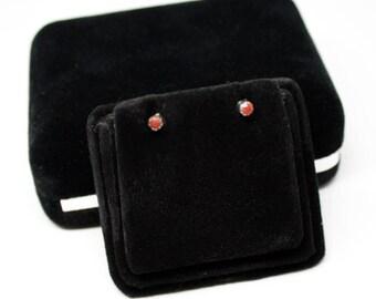 Zuni Coral Stud Earrings