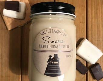 S'mores Handmade Soy Candle: Lake Life Candle Co. Made in WI