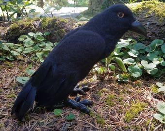 Needle Felted Crow