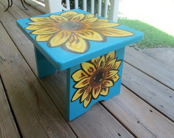 Hand painted wooden stool Sunflower decor refurbished wooden stool & Refurbished stool | Etsy islam-shia.org