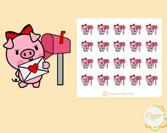Happy Mail Stickers, Cute Pig Stickers, Mail Letter Stickers, Check the Mail Stickers