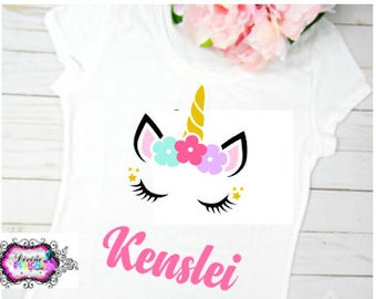 Unicorn Birthday Shirt, Birthday Shirt, Girls Birthday Shirt