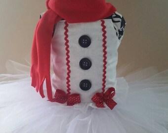 Snowman Tutu Dress, Christmas Tutu Dress, Frosty Snowman Dress, Frosty Snowman tutu, Frosty Snowman Costume, Sizes 6 mo - Size 6