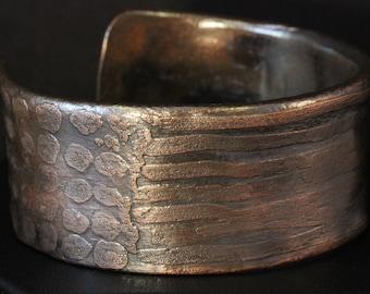 Etched Copper Cuff Bracelet (030318-004)