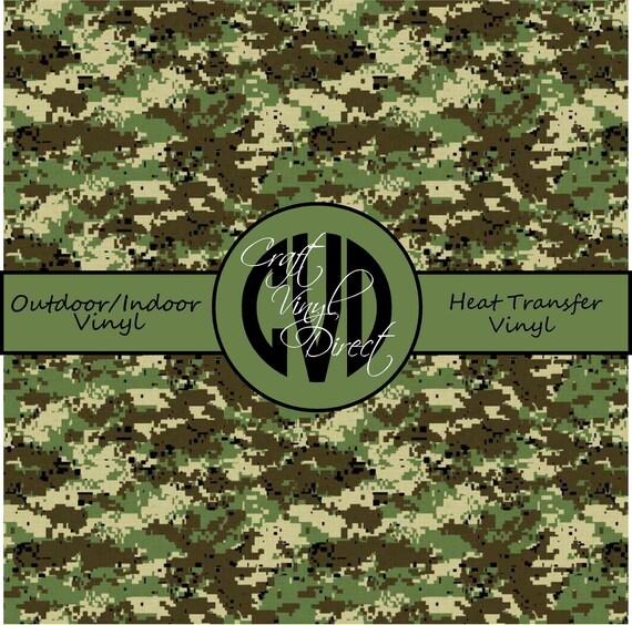 Digital Camo Patterned Vinyl // Patterned / Printed Vinyl // Outdoor and Heat Transfer Vinyl // Pattern 674