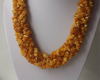 Handmade necklace of natural Baltic amber – 95 g