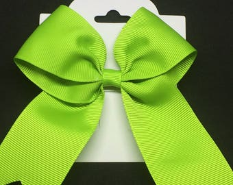 "3.5"" Lime Green Bow"